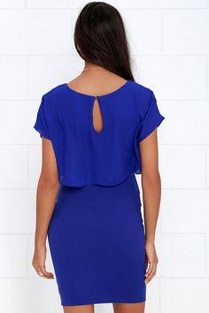Half the Fun Royal Blue Midi Dress
