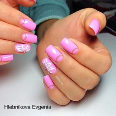 If you have got such variant of manicure, you can go out on romantic dates and to the hen party, too. Bright pink gel nail polish sets the color of the whole manicure and emphasizes the elegance of your nails. Varnish the lunulae with beige nail polish. Create the beautiful flower on the nail of the…