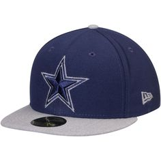 097c91691 Men s Dallas Cowboys New Era Navy Heathered Fresh Fitted 59FIFTY Hat