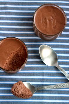Chocolate Mousse - chocolate, lightly cooked eggs, cream, and just a bit of sugar. Stovetop magic!
