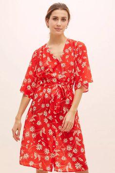 Pyrus Clemence Floral-Print Silk Dress | Anthropologie UK