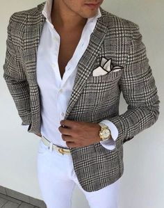 Look at this beautiful brown plaid blazer! This lo… – Look at this beautiful brown plaid blazer! This lo… – Look at this beautiful brown plaid blazer! This lo… – Look at this beautiful brown plaid blazer! Plaid Jacket, Plaid Blazer, Men Blazer, Jacket Jeans, Plaid Pants, Mens Fashion Suits, Mens Suits, Stylish Men, Men Casual