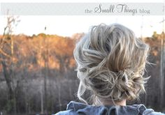 """""""Loose & to the Side"""" Updo.  This girl is great at breaking down how to do a hair style yourself!"""