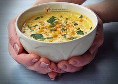 Supa crema de porumb cu caju (chowder)   Retetele mele dragi Cheeseburger Chowder, Soup, Ethnic Recipes, Soups