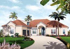 Florida Mediterranean House Plan 76106 Elevation