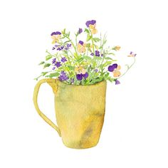 A painting I did of violas and verbena from my garden. (Kathleen Maunder/Trowel and Paintbrush)
