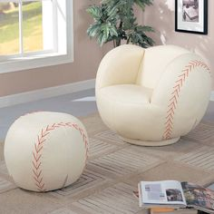 Kids Sports Chair Collection Chair and Ottoman at Brookstone—Buy Now!
