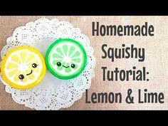Homemade Squishy Tutorial: Lemon & Lime - YouTube