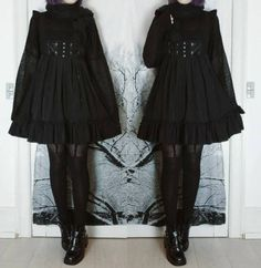 Gothic Outfits, Edgy Outfits, Pretty Outfits, Pretty Dresses, Cute Outfits, Kawaii Fashion, Lolita Fashion, Gothic Fashion, Alternative Outfits
