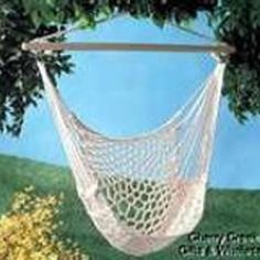 Vintage Macrame Hammock Swing Chair 1970s 70s Outdoor