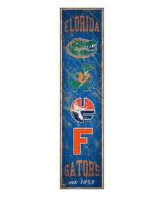 Fan Creations Florida Gators Heritage Vertical Wall Sign   zulily