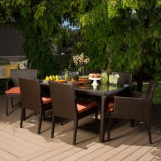 Cambridge 7-piece Outdoor Dining Set - Overstock™ Shopping - Big Discounts on Dining Sets