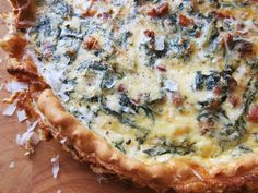 chard, pancetta, and pecorino quiche