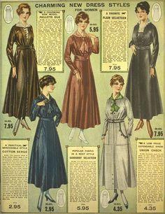 Charming New Dress Styles for Women. ~ Eaton's 1916-1917 Fall & Winter catalog. Nail Design, Nail Art, Nail Salon, Irvine, Newport Beach