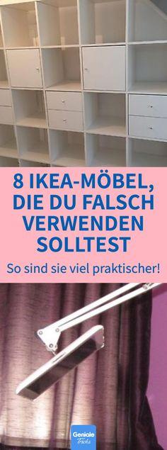 diy hacks home lifehacks 8 IKEA-Mbel, die du falsc - diyhacks Diy Hacks, Ikea Hacks, Home Hacks, Ikea Regal, Ikea Kallax Regal, Diy Furniture Plans, Ikea Furniture, Ikea Bed Slats, Ikea Kallax Hack