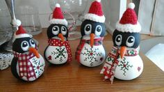 Penguin Gourd Ornaments by WhimseysUniqueGourds on Etsy