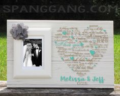 Wedding gift for Bride Groom. Wedding shower personalized gift idea. Engagement Frame Sign. Wedding anniversary gift by SpangGangDesigns on Etsy
