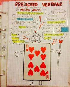predicato verbale Learning Italian, Class Projects, Grammar, Back To School, Homeschool, Bullet Journal, Classroom, Study, Teaching