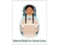 Native American Matryoshka Art Print Kids Wall Art by AmyPerrotti
