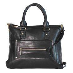 fc88edbda02d JOANEL Handbag - Sac à main JOANEL Black Leather Satchel, Leather Satchel  Handbags, Leather