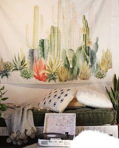 Tapestries Desert Sunshine Cactus Tapestry Wall Hanging For Living Room Bedroom Dorm Decor & Garden Living Room Bedroom, Dorm Room, Living Room Decor, Bedroom Decor, Tapestry Headboard, Tapestry Wall Hanging, Wall Hangings, Hanging Fabric, Ceiling Hanging