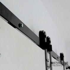 Szyna do prowadnic drzwi przesuwnych czarna