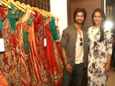Designer Kapil and Mmonika unveils their new collection with Actors Shahid Kapoor and Sonakshi Sinha