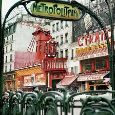 Place Blanche by Hans Mauli...note the Moulin Rouge in the background. Probably taken in the 1960s or 70s.