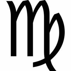 Astrologie - Symbole du signe zodiacal de la Vierge.