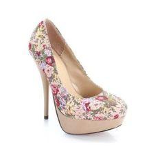 zapatos elegantes sencillos floreados con plataformas - Buscar con Google