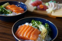 Salmon Chirashi with Ponzu Daikon Radish Sprout Salad | Lox, Stock, and Barrel