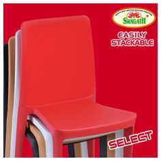 SELECT - Full solid and smooth backrest gives this matte finish chair a bold look and a commanding presence. The ergonomic shape of this modern chair makes it inviting and offers great comfort. Visit us today and select your favorite color at www.swagath.co !!