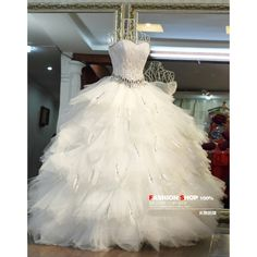 Custom Handmade New Arrival Vintage White/Ivory Feather Crystal Tiered... (£275) ❤ liked on Polyvore featuring dresses, gown, wedding, medieval, medieval gown, petite cocktail dress, cocktail party dress, evening dresses, women plus size dresses und holiday party dresses