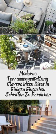 moderne Terrassengestaltung  trendige Einrichtungsideen gefl