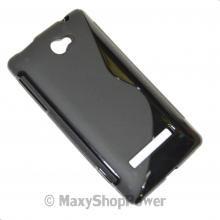 SSYL CUSTODIA IN SILICONE S-LINE COVER TPU CASE PER HTC WINDOWS PHONE 8S NERO BLACK NEW NUOVA - SU WWW.MAXYSHOPPOWER.COM