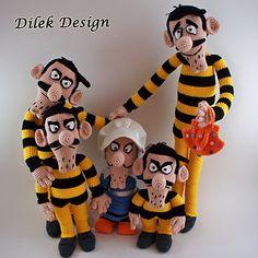 Ma Dalton , Amigurumi Crochet Pattern , Mother Dalton , Les Dalton , The Daltons , Lucky Luke , Rantanplan , jolly Jumper , Dalton Bros , Dalton Brothers