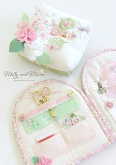 "Join in the Book Showcase for the new release from Lauren Wright of Molly and Mama; ""Pretty Handmades: Felt and Fabric Sewing Projects to Warm Your Heart"" Needle Case, Needle Book, Needle And Thread, Hand Sewing Projects, Sewing Tutorials, Sewing Patterns, Sewing Caddy, Sewing Kits, Sewing Tools"