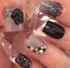 Fancy Sparkling Nails..