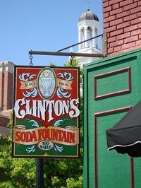 Clinton's Soda Fountain on Independence Square