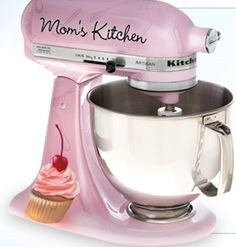 CHEFS Mom's Kitchen Limited Edition,  Pink Girl Cupcake, KitchenAid Artisan Stand Mixer, by NICOLE DINARDO of UN AMORE custom designs . Custom and perfect for Mother's Day