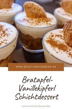 Bratapfel-Vanillekipferl Schichtdessert [Rezept]