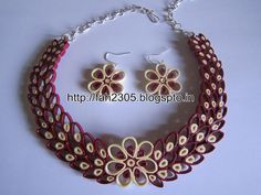 Free Form Quilling - Paper Quilling Jewelry Set (FAH01-226) - For buying please…