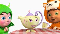 I'm a Little Teapot | 3D Animation | English Nursery Rhymes For children...