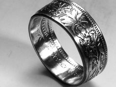 Swiss franc coin ring (size 10.5) #handmade #silver