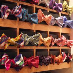abitofcolor — Summer bow ties at Robert Talbott.  (at Robert...