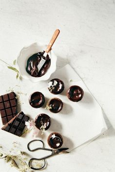 Double Chocolate Creme Fraiche Cupcakes