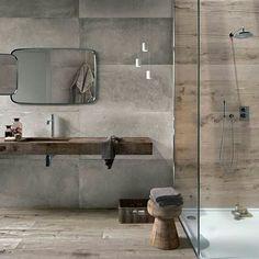Mis duchas del fin de semana son un poco más largas, desayuno más lento, vagueo en pijama... ¡Viva los Domingos! #Buenosdias #madrugosiempre #lavabo #aseo #ducha #dosmateriales #trucosparadecorar