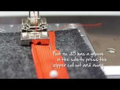 Tutorial: how to sew in an invisible zipper with the BERNINA zipper foot no. 35 - YouTube