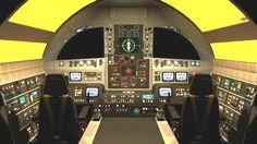 Space 1999 Eagle Cockpit.  #spaceship  #space1999