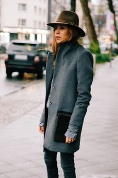 Grey coats fashion combination